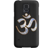 OM, gold and silver, reflecting infinite sky Samsung Galaxy Case/Skin
