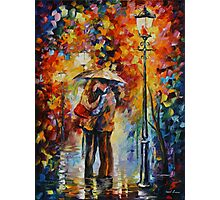 KISS UNDER THE RAIN limited edition giclee of L.AFREMOV painting Photographic Print