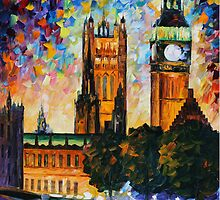 BIG BEN limited edition giclee of L.AFREMOV painting  by LeonidAfremov