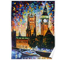 BIG BEN limited edition giclee of L.AFREMOV painting  Poster
