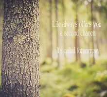 life always offers you a second chance. it's called tomorrow by netza