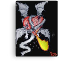 Dragon Holding Heart Canvas Print