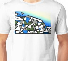 Glacier abstract blue mountain vector landscape Unisex T-Shirt