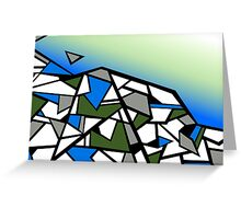 Glacier abstract blue mountain vector landscape Greeting Card