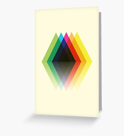 Colored Rhombic Mountains Greeting Card