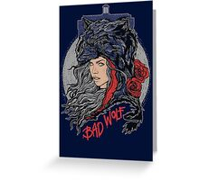 Bad Wolf -Blues Greeting Card