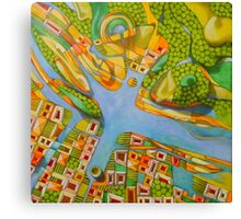 imaginary map of Turin Canvas Print