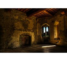 Stokesay Castle Tower Room Photographic Print