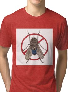 Blue Arse Fly Tri-blend T-Shirt