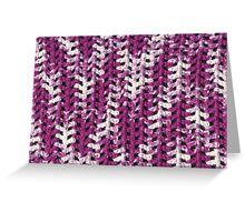 Closeup purple and white crochet pattern Greeting Card