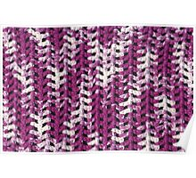 Closeup purple and white crochet pattern Poster