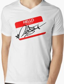 the name is mesi  Mens V-Neck T-Shirt