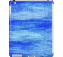 Blue painted abstract background iPad Case/Skin