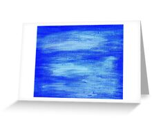 Blue painted abstract background Greeting Card