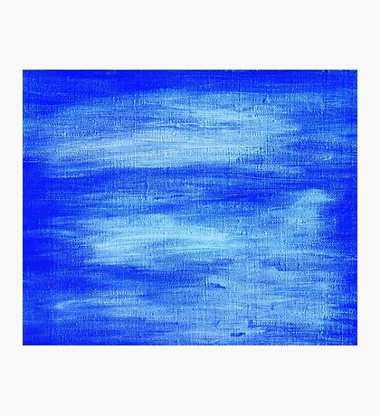 Blue painted abstract background Photographic Print