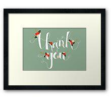 Sophia Thank You/Greetings Card Framed Print