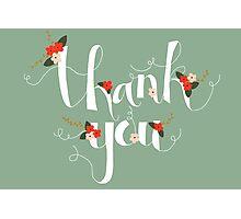 Sophia Thank You/Greetings Card Photographic Print