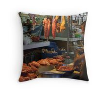 Market - The Butcher Throw Pillow