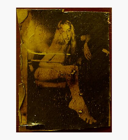 nude in liquid light Photographic Print
