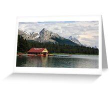 Maligne Lake Boathouse Greeting Card