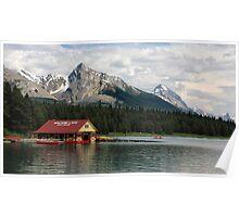 Maligne Lake Boathouse Poster
