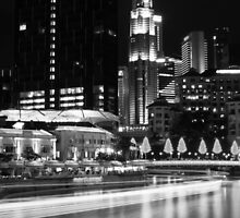 River Point at Clark Quay B&W by Christian Eccleston