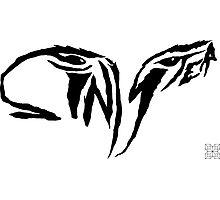 Sinister Eyes -Handwritten Typography Photographic Print