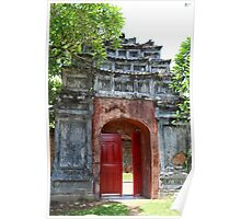 The Tomb Gate - Hue, Vietnam. Poster