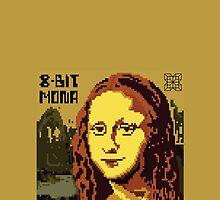 Mona Lisa Pixelated 8bit by pixelpraani