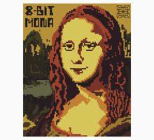 Mona Lisa Pixelated 8bit One Piece - Short Sleeve