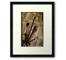 tools of painter Framed Print
