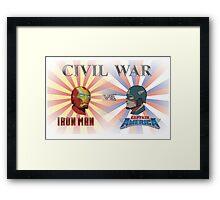 Iron Man v Captain America Framed Print