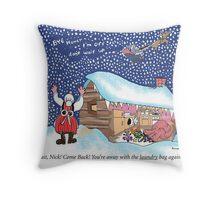 Santa Bag Throw Pillow