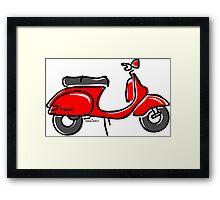 Vespa PX scooter red  Framed Print