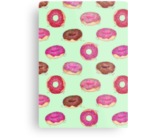 Delicious Donuts - on mint green  Metal Print