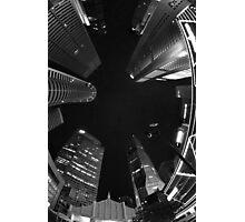 Raffles Plaza in Fisheye (B&W) Photographic Print