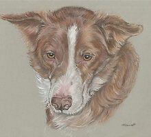 Dog pastel pet portrait by jdportraits