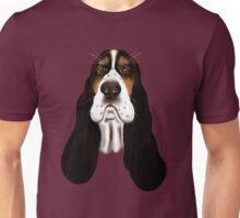 Basset Hound Face Unisex T-Shirt