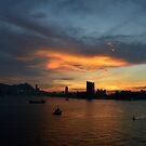 Hong Kong sunset by Leia