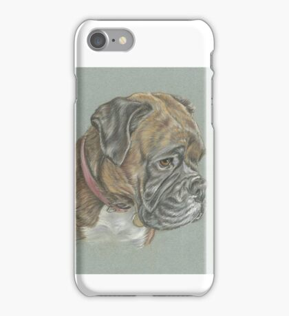 Dog pastel portrait iPhone Case/Skin