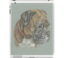 Dog pastel portrait iPad Case/Skin