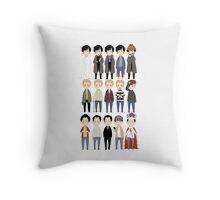 johns and sherlocks and moriarties Throw Pillow