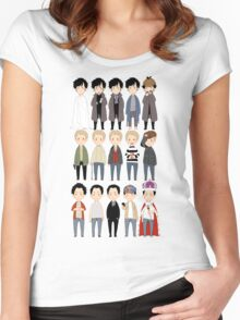 johns and sherlocks and moriarties Women's Fitted Scoop T-Shirt