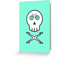 Rider Skull Greeting Card