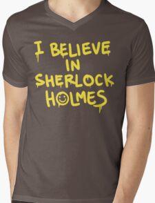 Believe in Sherlock Mens V-Neck T-Shirt