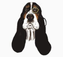 Basset Hound With Monocle T-Shirt
