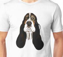 Basset Hound With Monocle Unisex T-Shirt
