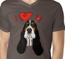 I Love My Basset Hound Mens V-Neck T-Shirt