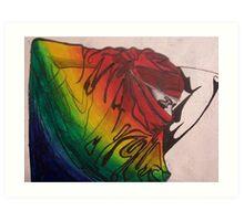 Rainbow Bellydancer Art Print