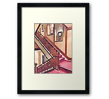 Wooden Staircase at a Japanese-style Inn Framed Print